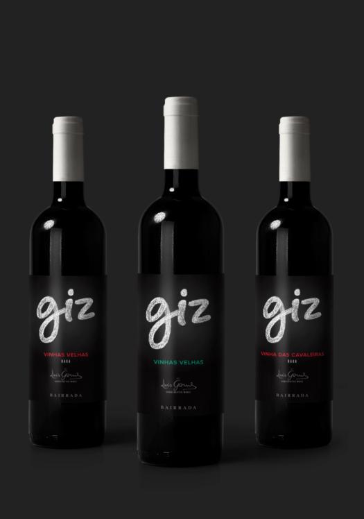 Três Garrafas de vinho Giz